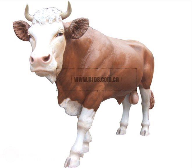 仿真黄牛、仿真动物雕塑、(北方雕塑出品,玻璃钢树脂材质